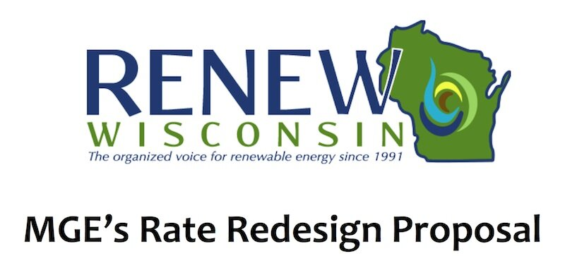 Presentation on MGE Proposal With Analysis by RENEW Wisconsin