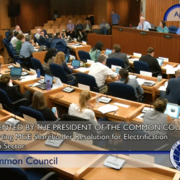 Common Council votes to support MGE Shareholders for Clean Energy